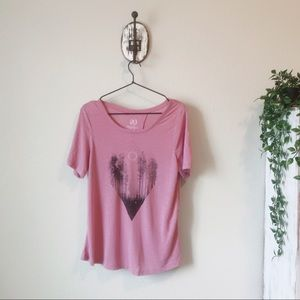 Graphic lounge wear top size large with open back
